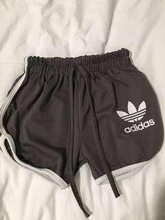 🚚 Adidas Running casual Shorts in dark grey gray with white outline