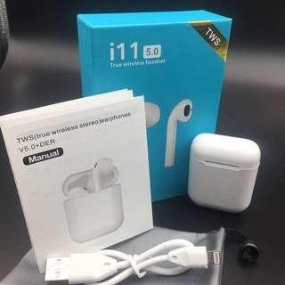 2019 Latest i11 TWS Air pods/Airpods Wireless Bluetooth Earphone V5.0 Stereo Auto Pairing Earbuds/Earpods Touch Binaural Headset For Apple iPhone, Android, Huawei, Samsung, XiaoMi