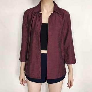 Maroon Shimmery Outer