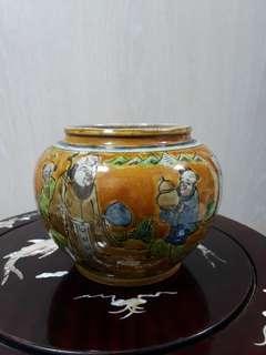Old Porcelain Pot