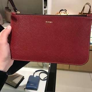 Bonia Leather Wristlet