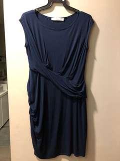 Maternity dress dark blue