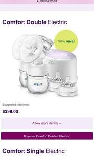 Philips Avent Double / single / manual Electric Breast Pump