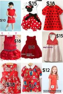 CNY clearance dresses 1-7yrs old