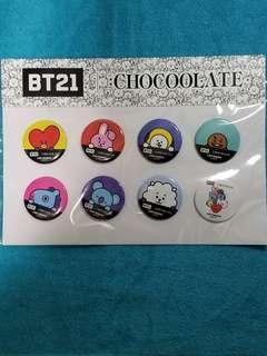 BT21 × Chocolate 襟章