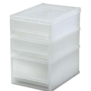 Stationery Storage Plastic Cabinet 文具桌上收納儲物箱 三層塑膠櫃