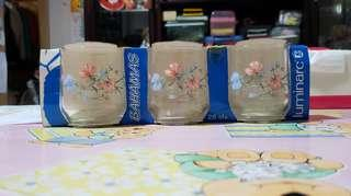 印花玻璃杯一套 one set of glass cups