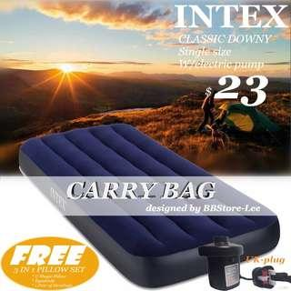 INTEX single Airbed 76*191*22cm Inflatable Mattress AIR BED with Electric pump