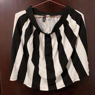 黑白間條半身裙