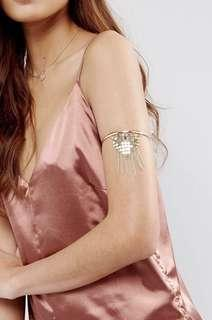 ASOS Gold Tassel Arm Cuff