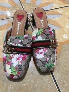 Sepatu sandal payet