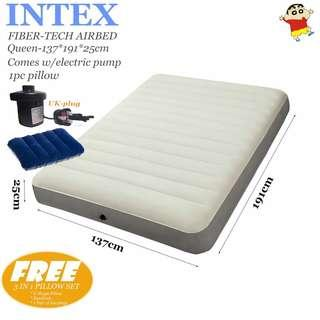 INTEX AIRBED Fiber-Tech Queen(Full)-137*191*25cm /Inflatable mattress/AIR BED