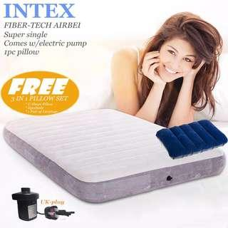 INTEX Fiber-Tech airbed-Super single 99*191*25cm*Inflatable Mattress