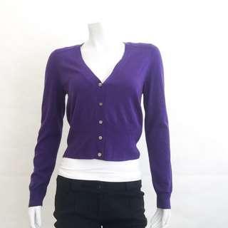 NWOT J CREW 58919 Royal Purple Merino Wool Lightweight Cardigan Sweater S Small