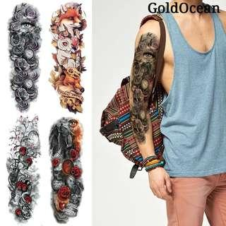 48x17CM Full Arm Tattoo Sleeve Animals Temporary Tatto For Women Girl Men Body