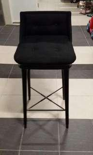 Benchmark Furniture Bar Stool / High Chair with Back Rest