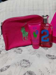 Authentic Ralph Lauren Perfume,lotion & pouch set