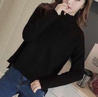 Simple Black O neck Top ( super nice material ! )