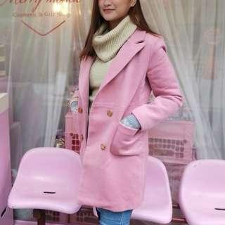 Pink Trench Coat Winter Jacket