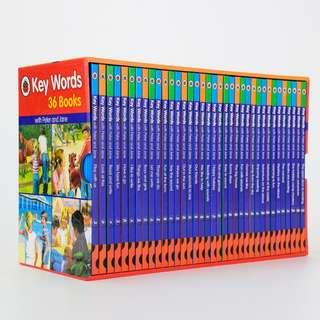🚚 KeyWords with Peter and Jane Collection Set (36 Books) [Ladybird Key Words]