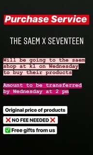 [PURCHASE SERVICE] Seventeen x The Saem