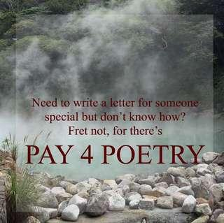🚚 PAY FOR POETRY