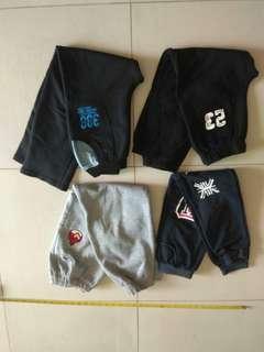 4件 男童褲 boys pant age 10-11