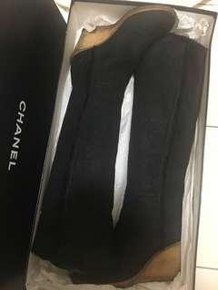🚚 Chanel 羊絨長靴(正品