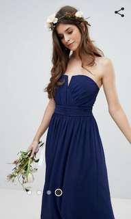 🚚 BN ASOS TFNC Bandeau Maxi Bridesmaid Dress