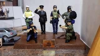 香港警察紀念公仔 穿著警服的成龍