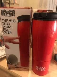 Pacific Coffee Mighty Coffee Travel Mug Red Color