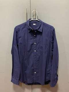 GU Blue Long Sleeve Polo