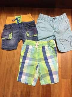 Next UK, Japanese Street brand boy 3 yrs shorts bundle