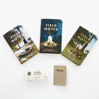 Field Notes Campfire Graph Paper 3-Pack 夏日限定版 筆記本 方格筆記本 口袋筆記本