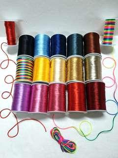 Satin Cord, 2 mm x 10 Meter for $3.00 ↪ 15 Colors