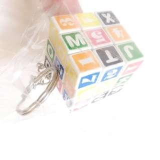 小型魔術方塊鑰匙圈 益智玩具 英文數字