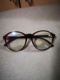 Brown frame glasses