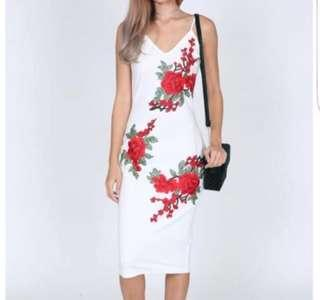 MDS white floral dress
