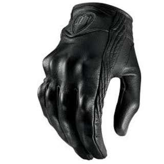 Men Motorcycle Gloves Outdoor Full Finger Short Leather Gloves (brand icon)