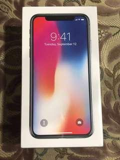 Iphone X (NEW SEALED) (space grey) (256gb)