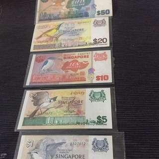 Singapore Banknote set