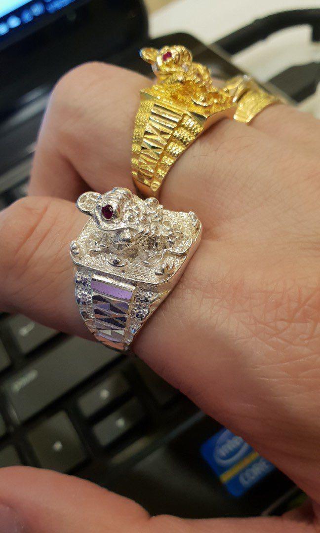 999 Pure Silver Ring, Pixiu Bracelet 999纯银