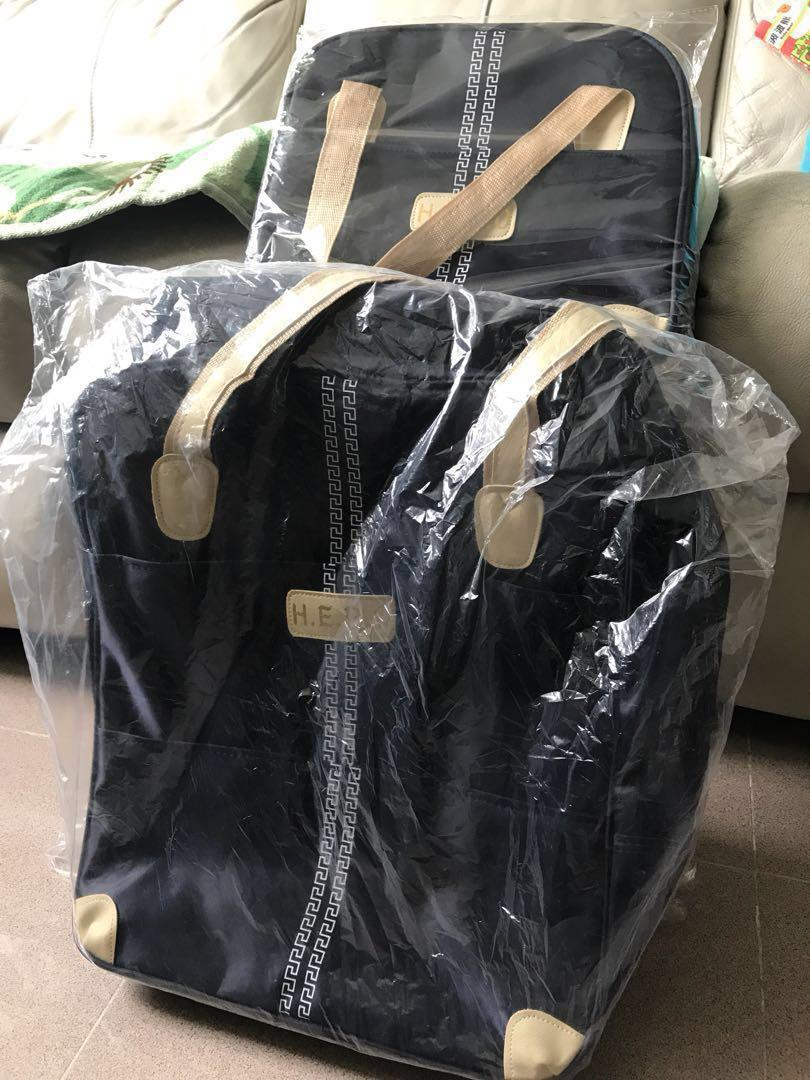 執野去旅行✈️《新》拖拉手提行李袋 luggage bag + hand bag 一套
