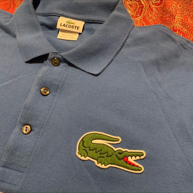 e09bb143 Authentic Lacoste Polo Big Gator Big Croc Shirt Men S Fashion