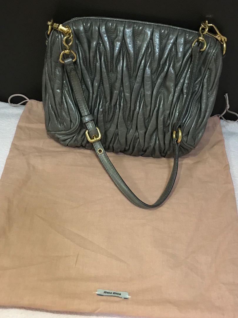f88edc77f5ad Authentic Miu Miu Matelassé used bag for offer