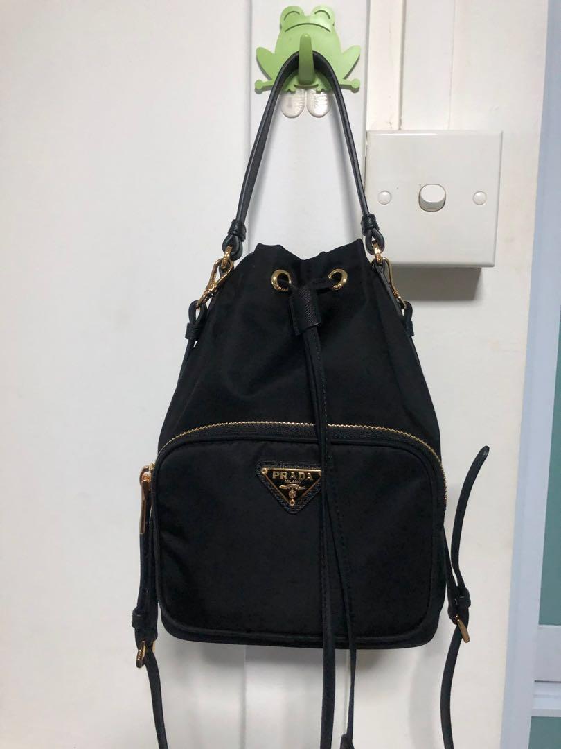 3709c4f3e3d47b Authentic Prada Bucket Bag, Luxury, Bags & Wallets, Handbags on ...