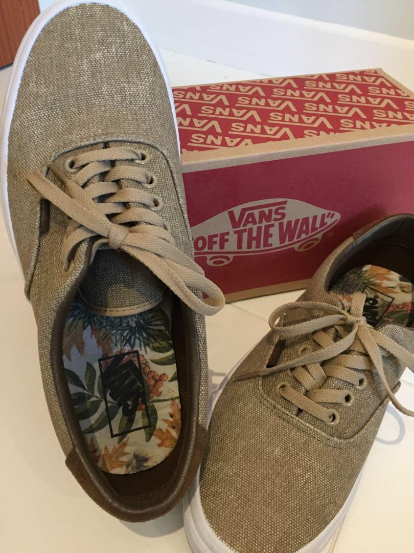 75d8fba55d Authentic Vans brownish beige Shoes birds  cornstalk