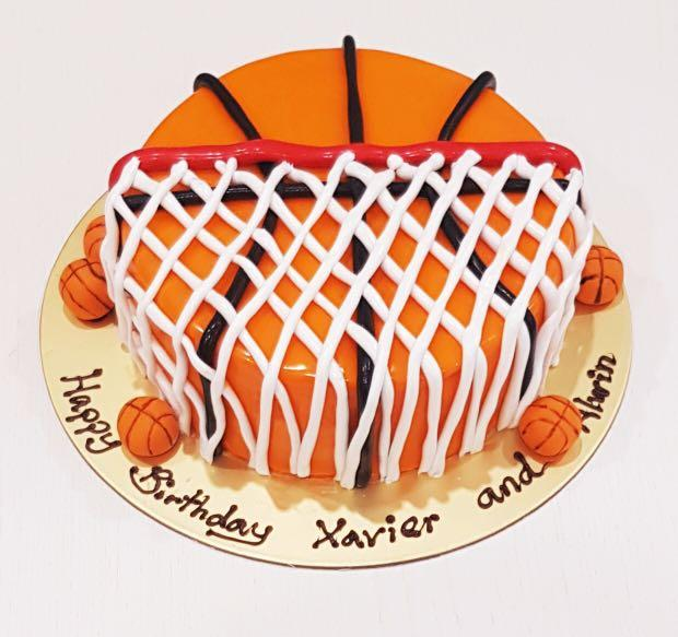 Miraculous Basketball Birthday Cake 7 Inch Food Drinks Baked Goods On Funny Birthday Cards Online Alyptdamsfinfo