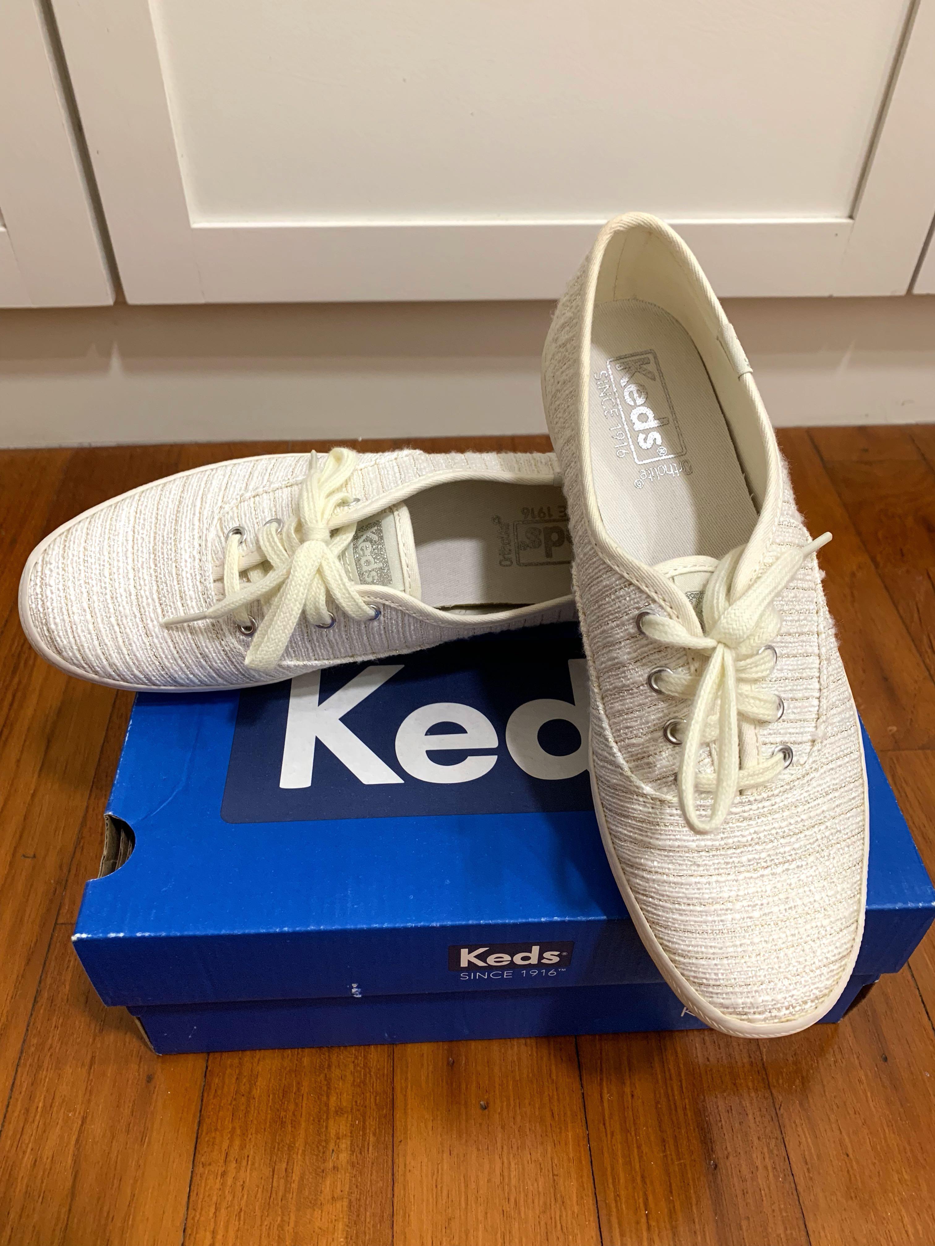 ce41f925d0517 Brand New - KEDS CH Lurex Stripe Cream Shoes