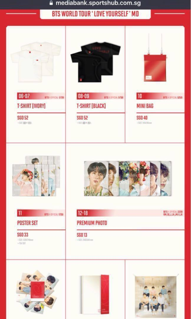 Bts Love Yourself Tour Merch Entertainment K Wave On Carousell